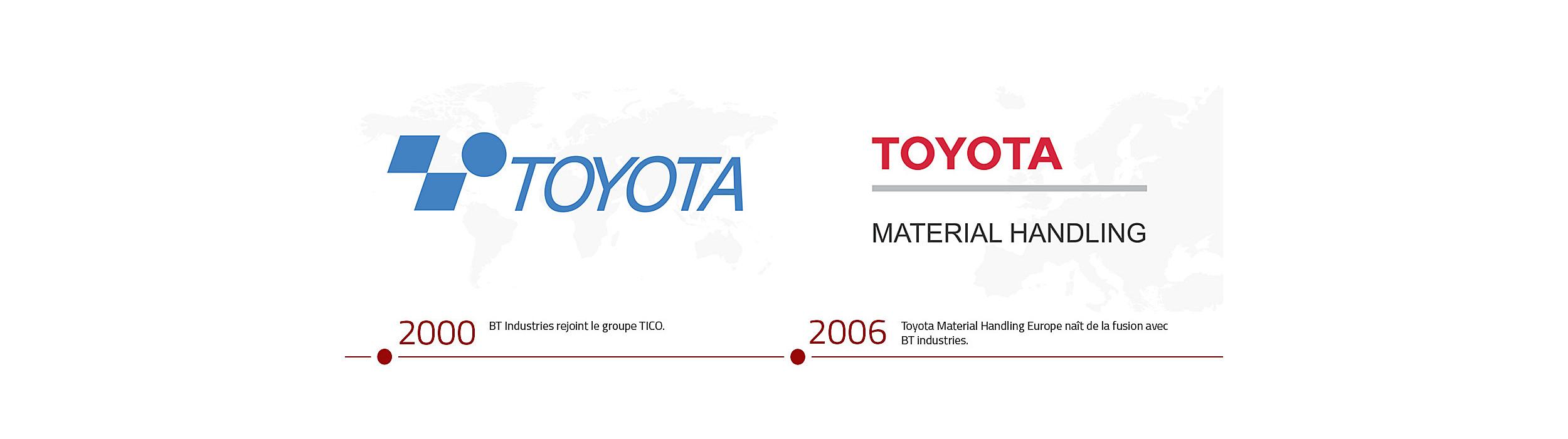 En 2000 BT Industries rejoin le groupe TICO et en 2006 Toyotal Material Handling naît de la fusion avec BT