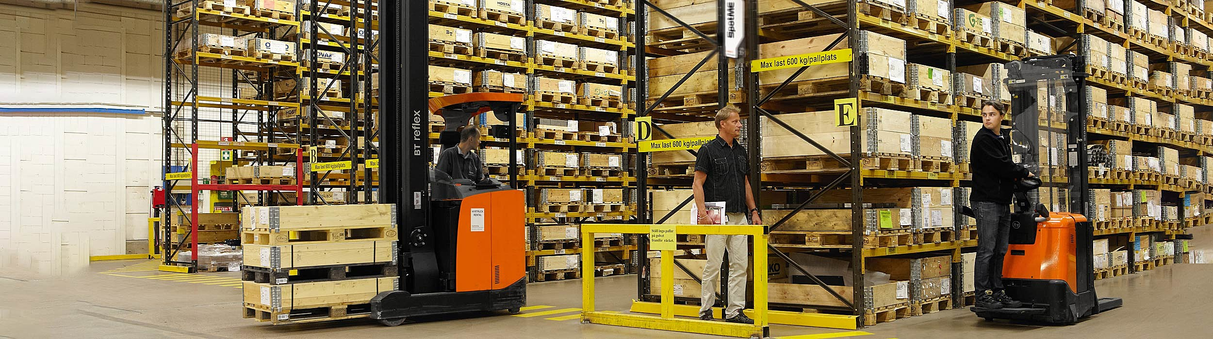 SpotMe installed in warehouse