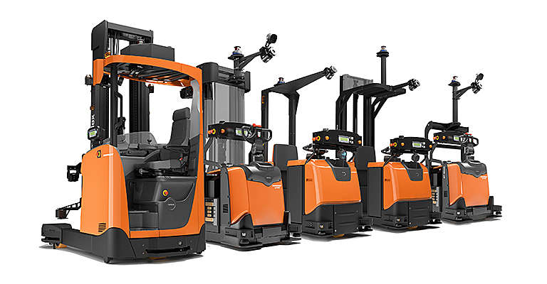 Automated forklift trucks from Toyota