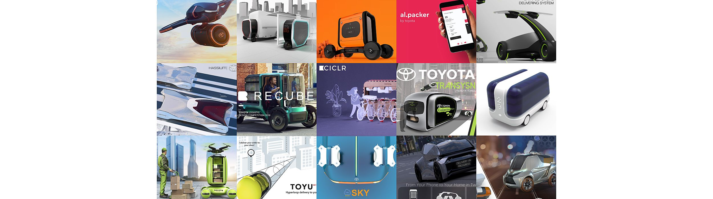 Toyota Logistic Design Competition finalists