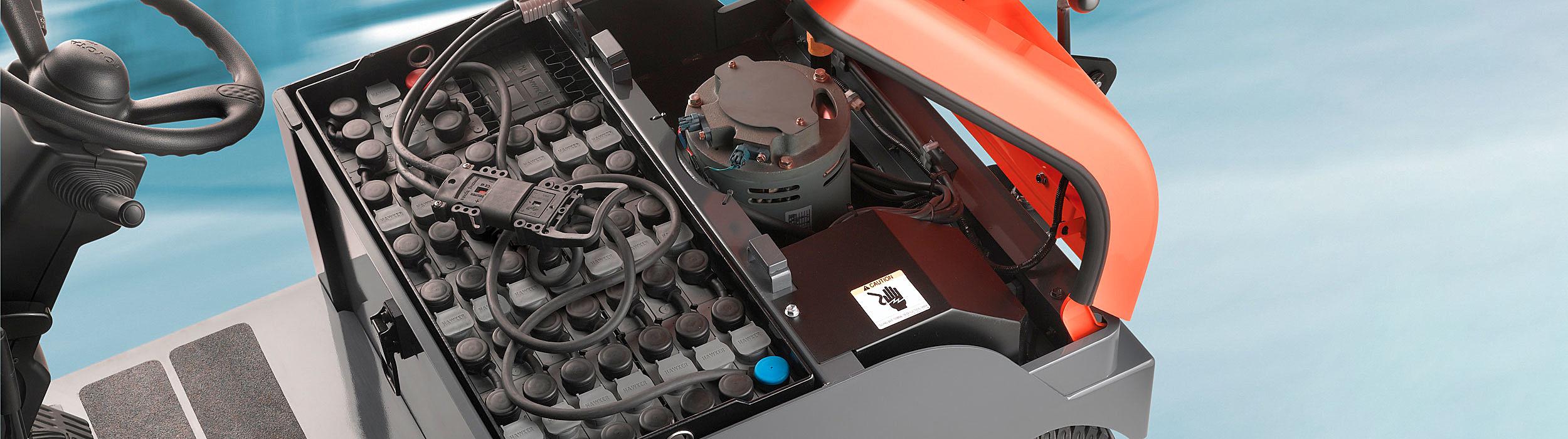 Forklift truck battery
