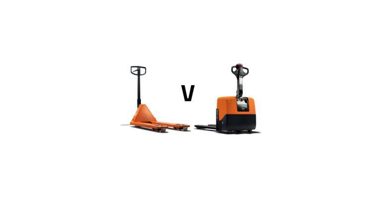 Elektrische pallettruck vs handpalletwagen