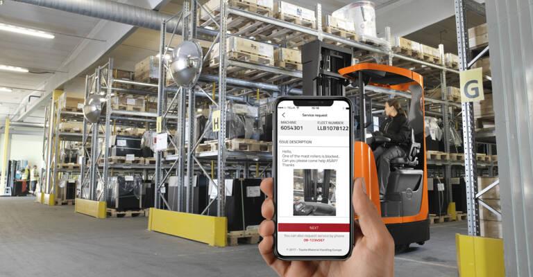 L'application T-Stream est utilisée par le service après-vente, les données collectées auprès des chariots connectés sont transmises aux techniciens
