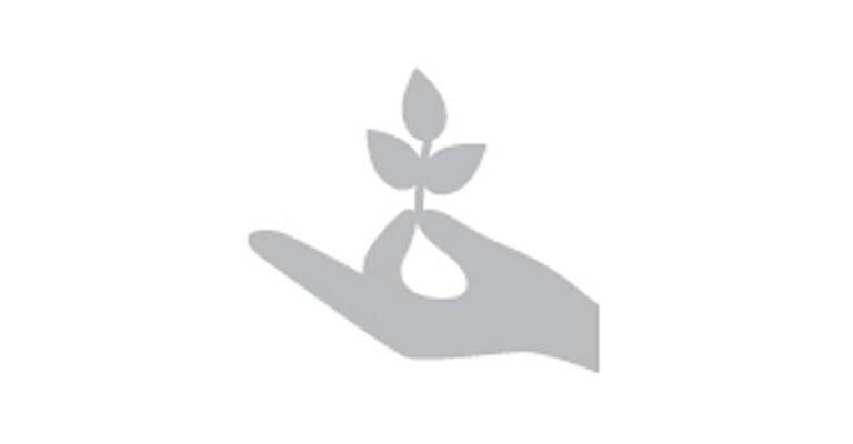 Ikona rośliny rosnącej w dłoni