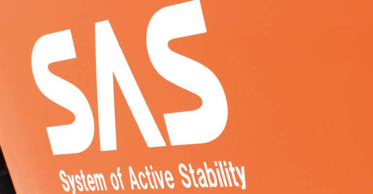 Close up on SAS logo on truck