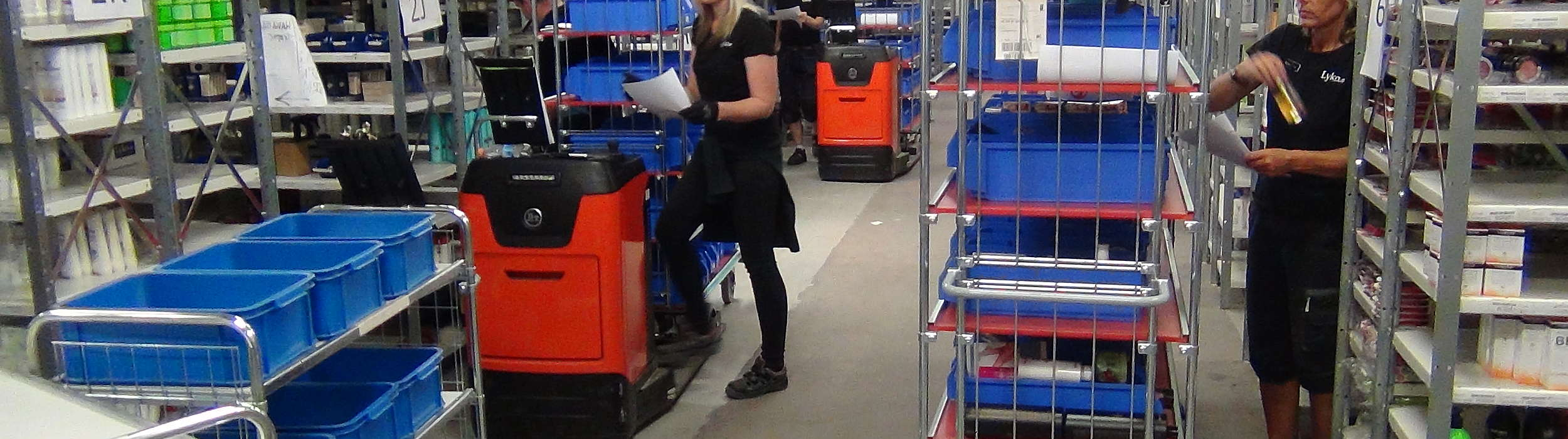 Employee at Lyko packing deliveries