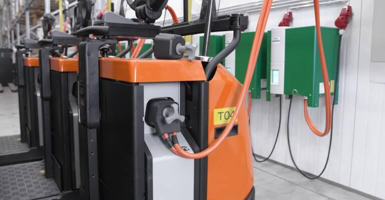 Nabíjanie lithium-ion vozíka