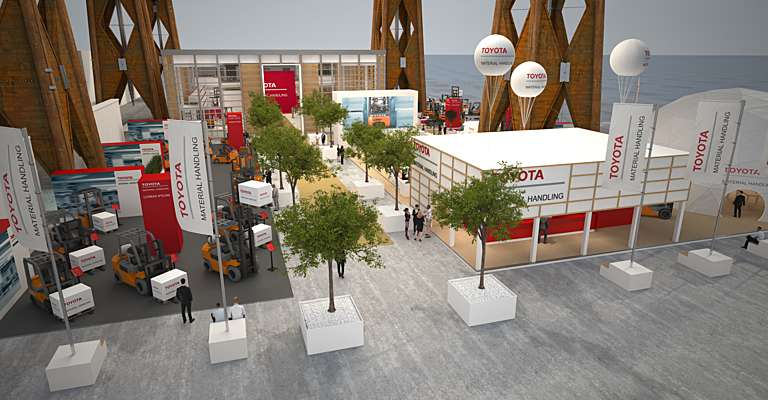 Toyota booth at CeMAT