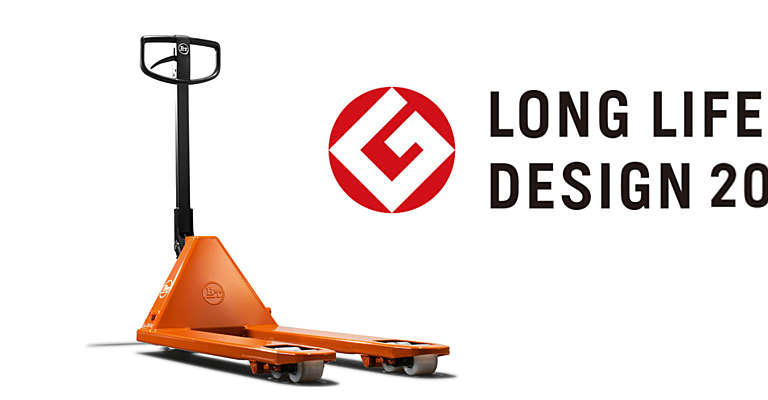 BT Lifter hand pallet truck with logo for Long Life Design