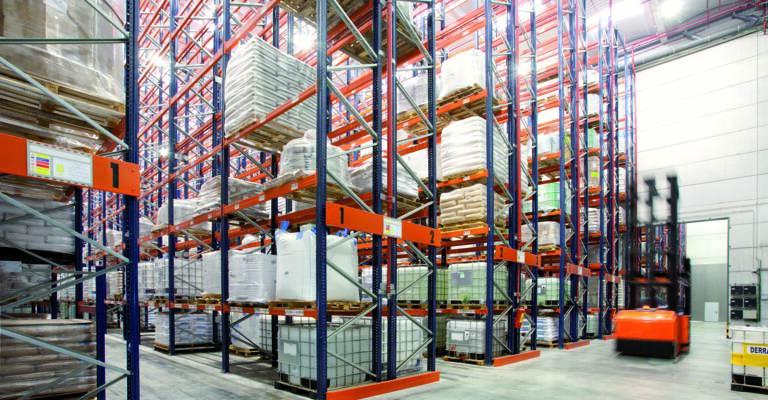 Rackings in warehouse