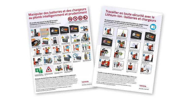 Posters Toyota pour la prévention des risques en entrepôt