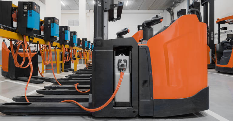 Toyota plukketruck med lithium-ion