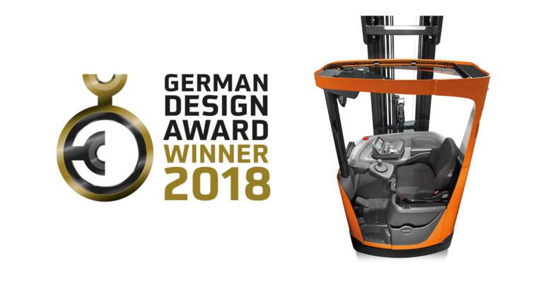 German Design Award Winner 2018 Toyota BT Reflex reach truck