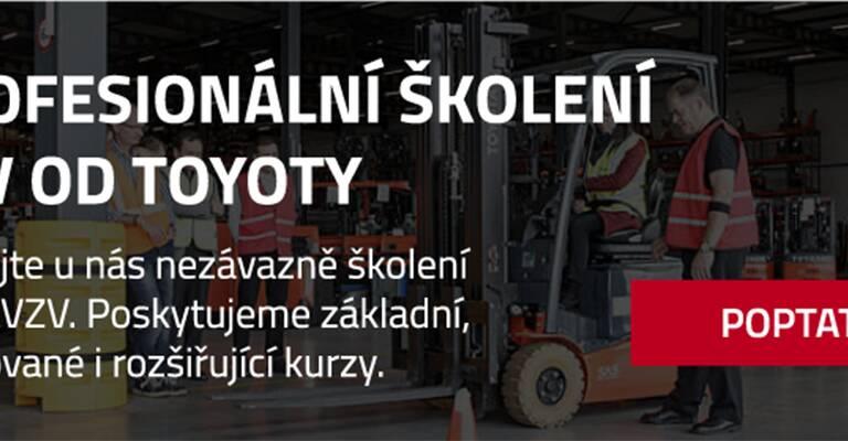 Poptávka profesionálního školení vzv od Toyoty