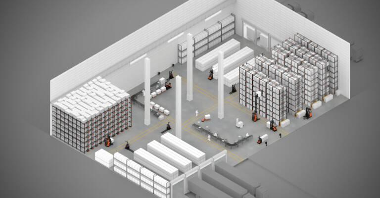 esquema procesos del almacén