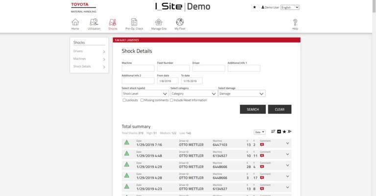Toyota Material Handling: BT Reflex, Toyota I_Site