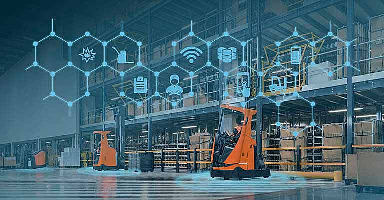 smart trucks from toyota in warehouse