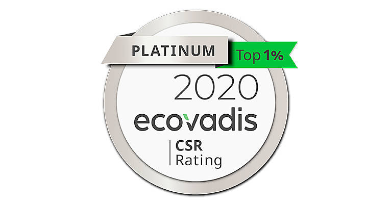Ecovadis 2020 - médaille argent Toyota Material Handling