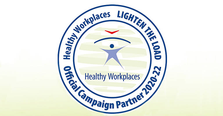 Healthy workplaces - Lighten the load banner