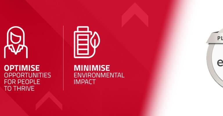EcoVadis Platinum logotype for Toyota Material Handling Europe