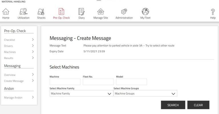 Toyota Material Handling: BT Reflex, I_Site messaggi attraverso il carrello