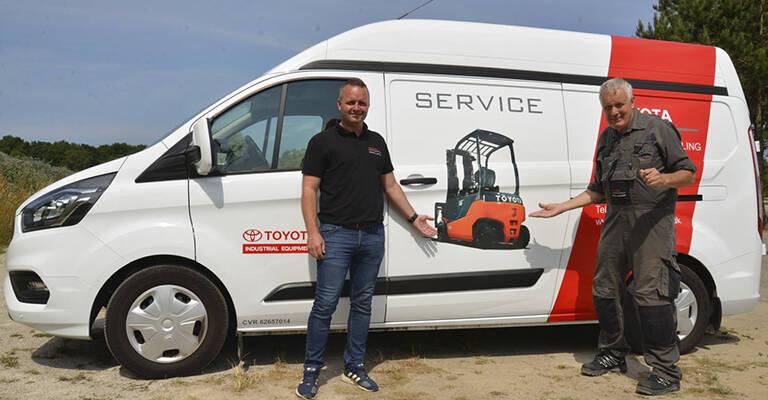 Servicechef for Sydsjælland, Kristian Pedersen, (tv.) har været glad for samarbejdet med John Bergmann Jensen