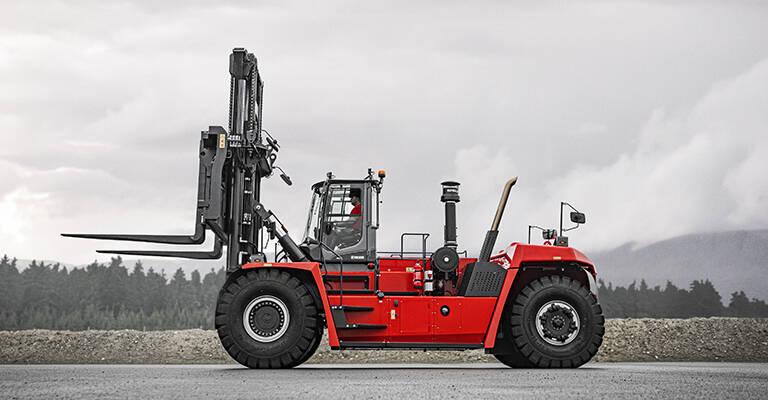 Kalmar diesel stor gaffeltruck - heavy