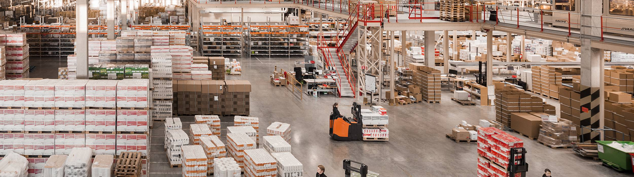 BT Staxio stacker trucks used in retail and warehouse industry