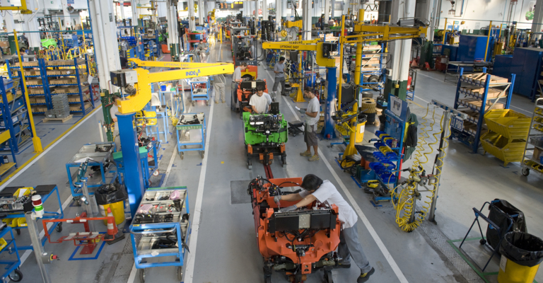 Toyota Material Hanlding assembly line