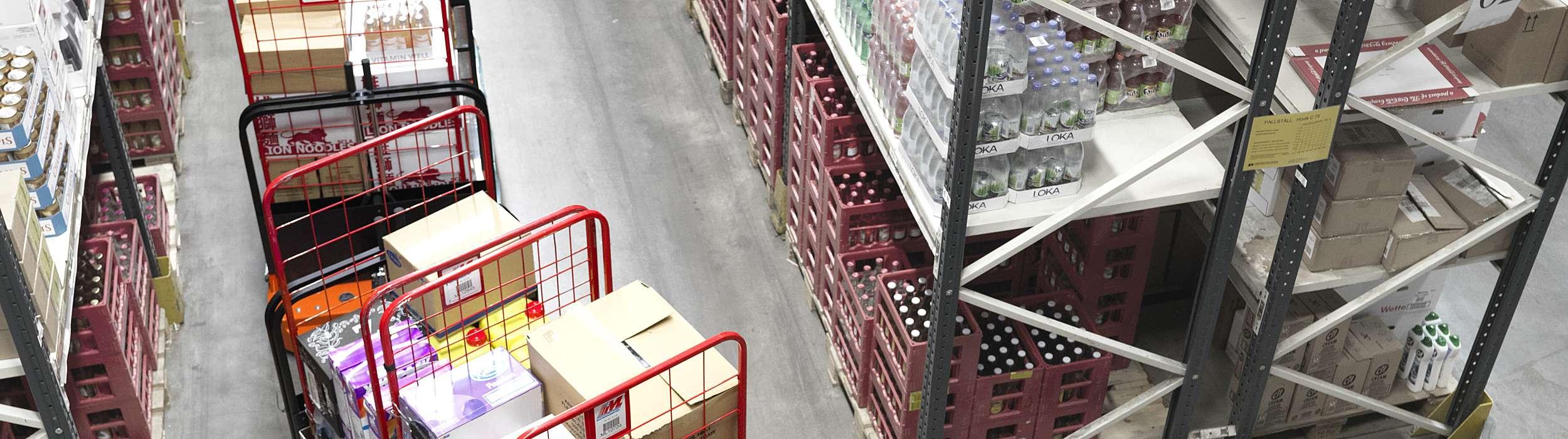 T-motion train in warehouse