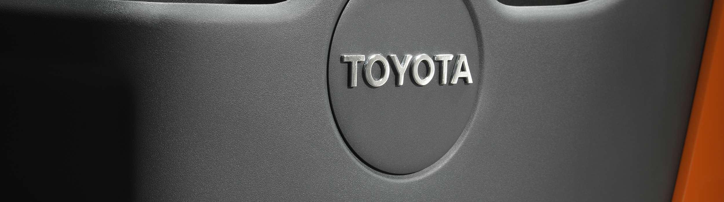 Close up on Toyota logo